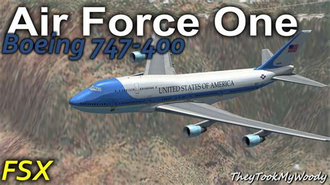 air force one installation air force one boeing 747 400 for fsx