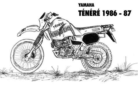 Xt 600 Aufkleber Yamaha Logos by Zeichnungen Der Rallye Tenere Seite