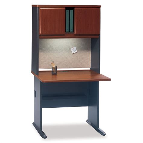 Bush Series A Wood Office Cubicle W Hutch Hansen Cherry Bush Office Desk