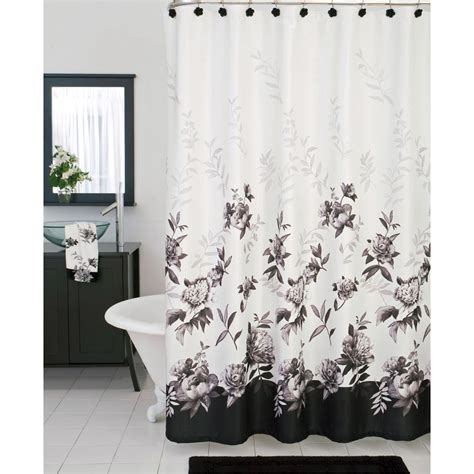 Bath Shower Curtains And Accessories lenox moonlit garden shower curtain and bath accessories