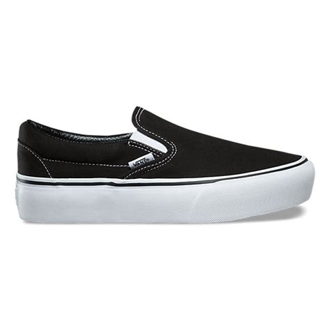 Vans Slip On Black slip on platform shop at vans