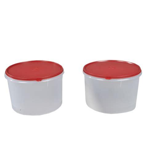 large snack store 1 tupperware tupperware plastic storer large 5 litre set of 2