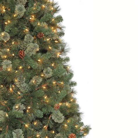 home depot alexandria pine tree martha stewart living 9 ft pine set artificial tree with pinecones