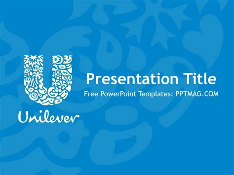 free unilever powerpoint template pptmag