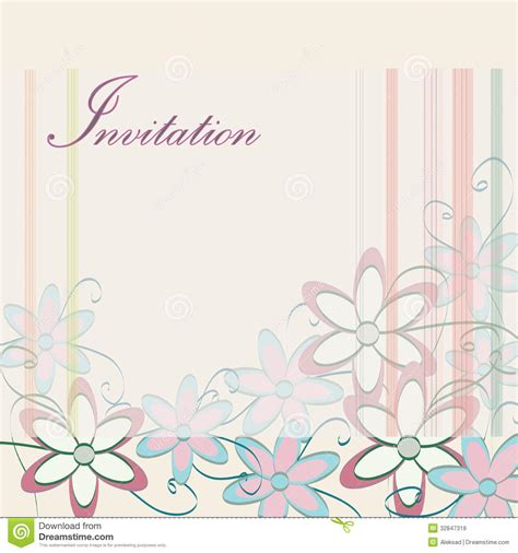 Wedding Invitation Template Party Card Design With Flowers Stock Vector Illustration Of Love Invitation Card Template