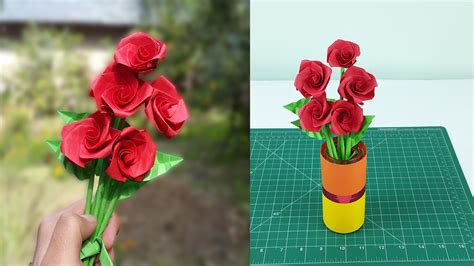 how to make realistic paper roses with leaves and stem
