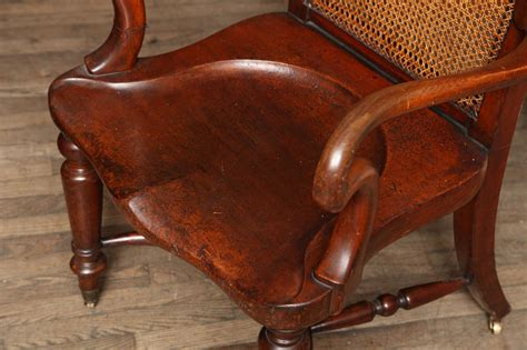 Large Desk Chair by Large Mohagany Desk Chair W Saddle Seat At 1stdibs