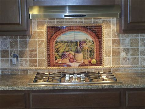 Kitchen Murals Backsplash Decorative Tile Backsplash Kitchen Tile Ideas Tuscan Wine Ii Tile Mural