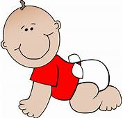 Crawling Baby Red Clip Art At Clkercom  Vector