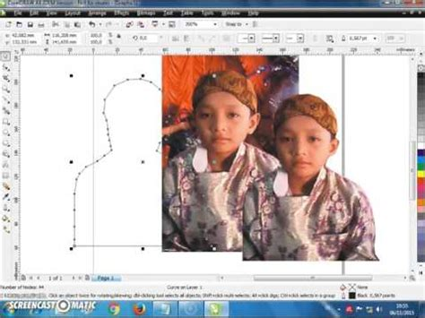 memotong gambar  mengganti background  coreldraw