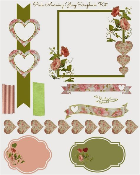 Printable Papers For Card - scrapbook card elements free do it yourself