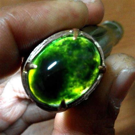 Batu Akik Lumut Unik As152 inilah batu akik lumut hijau garut