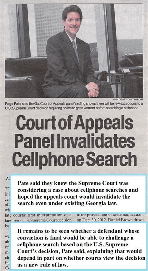 Dc Judiciary Search Disclaimer Winning Appeal In Around Unlawful Cellphone Searches