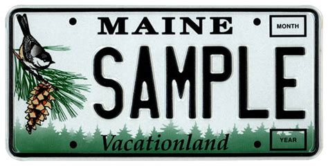 Vanity Plates Maine by Maine License Plates