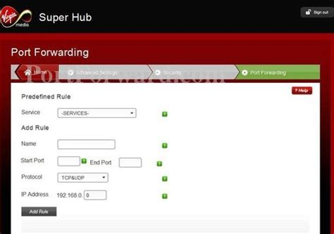 virgin super hub reset not working opening a port on the virgin media super hub 2