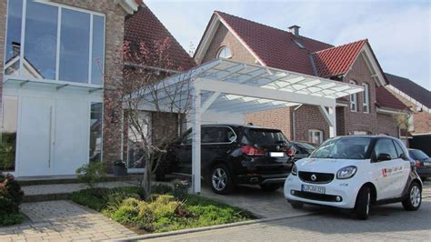 Glasdach Auto by Glasdach Carports Carport In Holz Alu Stahl Carport