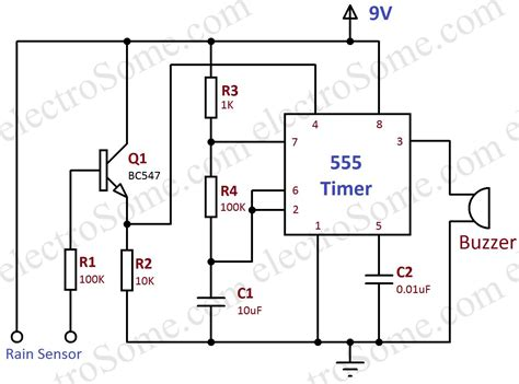 alarm using 555 timer hobby circuit