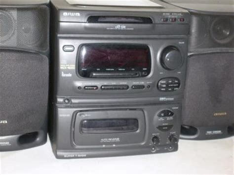 aiwa nsx 4000 3 cd bookshelf stereo system w built in