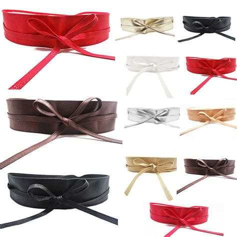 13 Fashion Accessories For Summer by Soft Leather Wide Self Tie Wrap Around Waist Band