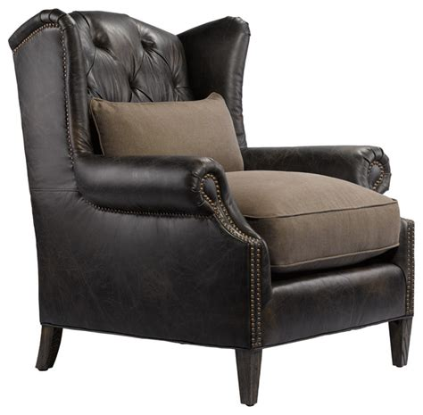 Reading Armchair professor s leather reading chair traditional armchairs and accent chairs new york by