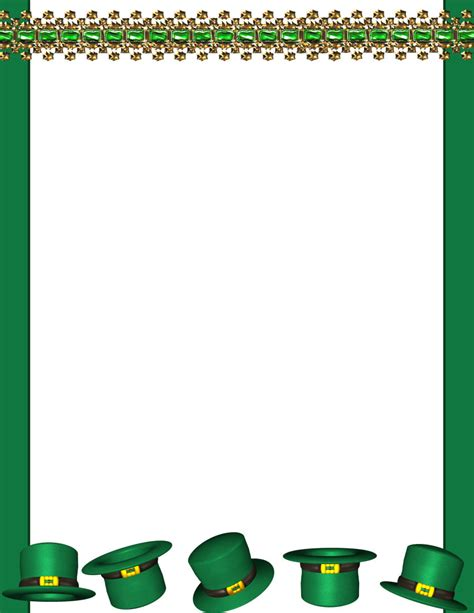 st template free shamrock border for word documents www imgkid the
