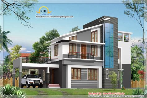 modern duplex villa elevation 1925 sq ft kerala home