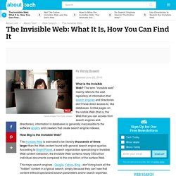 Invisible Web Search Search The Invisible Web Pearltrees