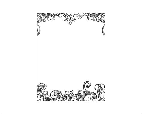 wilton ms word templates silver border place cards template border template 13 free jpg psd format