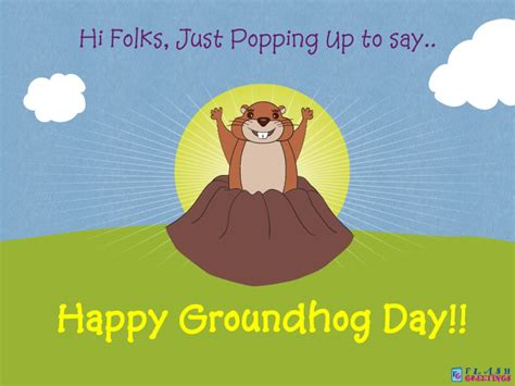 groundhog day expression just popping up to say happy groundhog day free