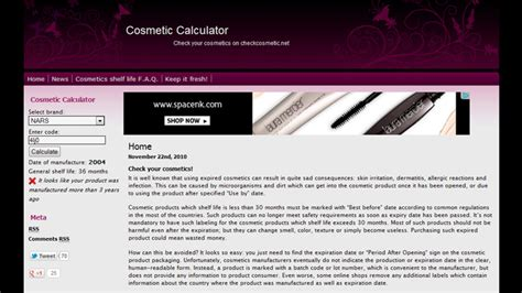 calculator cosmetic makeup expiry date check impremedia net