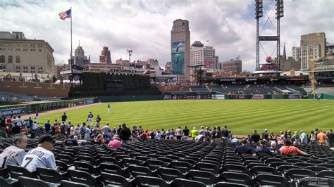 comerica park section 139 comerica park section 139 detroit tigers rateyourseats com