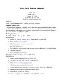 Resume Objective For Banking by 10 Bank Teller Resume Objectives Writing Resume Sle