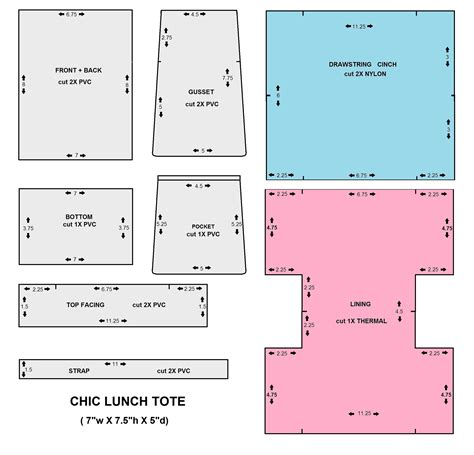 chic lunch tote bag n telle