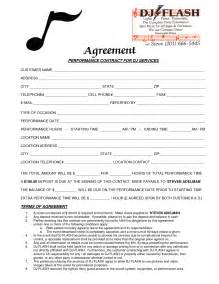 Dj Service Contract Template by 9 Best Images Of Dj Contract Agreement Template Dj