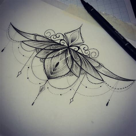 underboob tattoo design sternum drawings www pixshark images