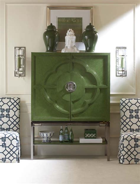 Lotus Bar Cabinet Chin Hua S 699 462 Lotus Bar Cabinet In Our Jade Finish Color Story Green With Envy