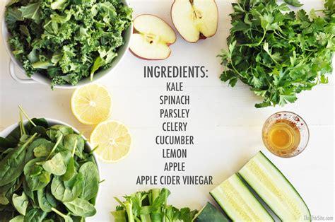 Ingredients Of Detox Fir Drink by Green Juice