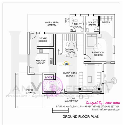 Square Yards House Elevation  Plan Home Kerala Plans