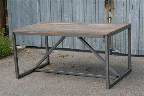 Dining Table As Desk by Combine 9 Industrial Furniture Modern Industrial