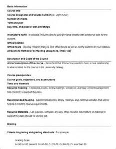 high school syllabus template syllabus template free templates free premium templates