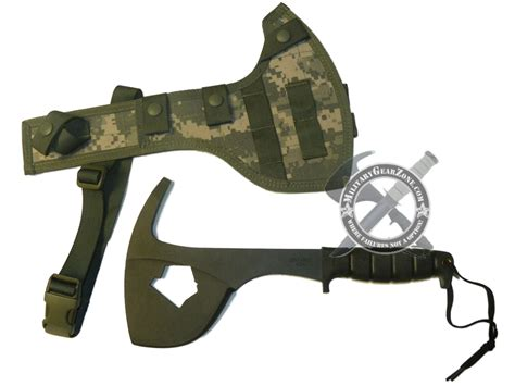 us army issue knife gear zone us army issue ontario knife sp16 spax survival axe hatchet acu camouflage