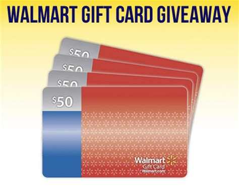 Hot Topic Gift Card Walmart - enter to win a 50 walmart gift card 4 winners
