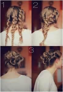 Wonderful braided knot bun updos diy updo hairstyles via