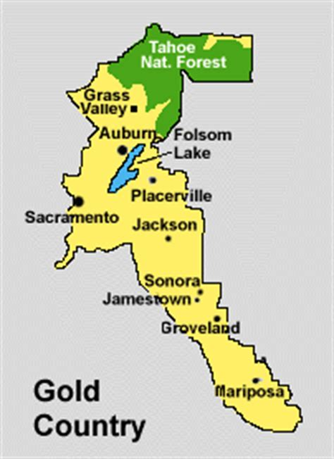 california map gold country hotels in the gold country of california usa