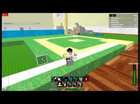 how to build a baseball field in your backyard roblox how to build a baseball field part 2 youtube