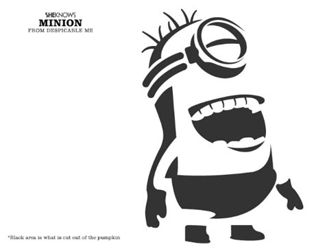 pumpkin carving templates minion minion pumpkin o lantern stencils carving pattern