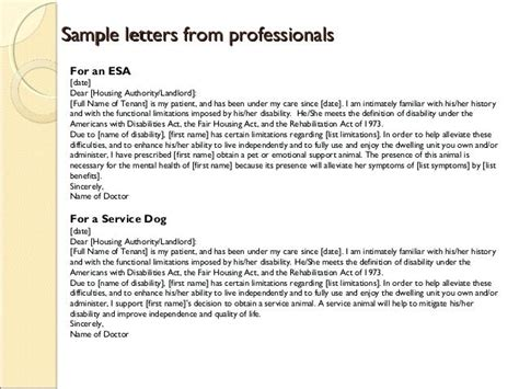 Support Letter For Priority Housing emotional support letter emotional support animal