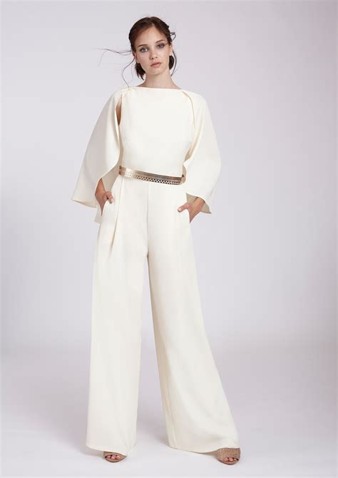 738 Jss New Jumpsuit beige cape jumpsuit