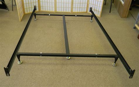 bed frame with box spring heavy duty queen size metal bed frame