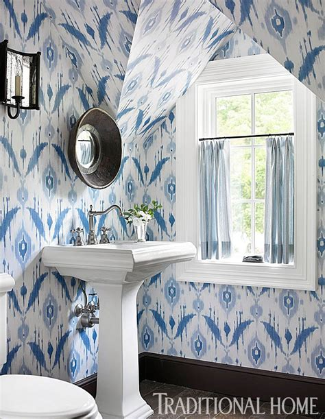 pinterest thibaut wallpaper ikat wallpaper from thibaut wallpapered bathroom